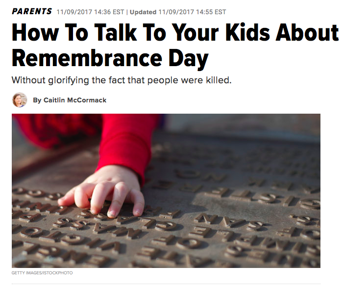 How To Talk To Your Kids About Remembrance Day