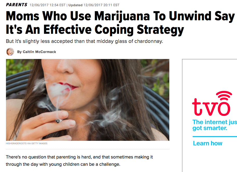 Moms Who Use Marijuana To Unwind Say It's An Effective Coping Strategy