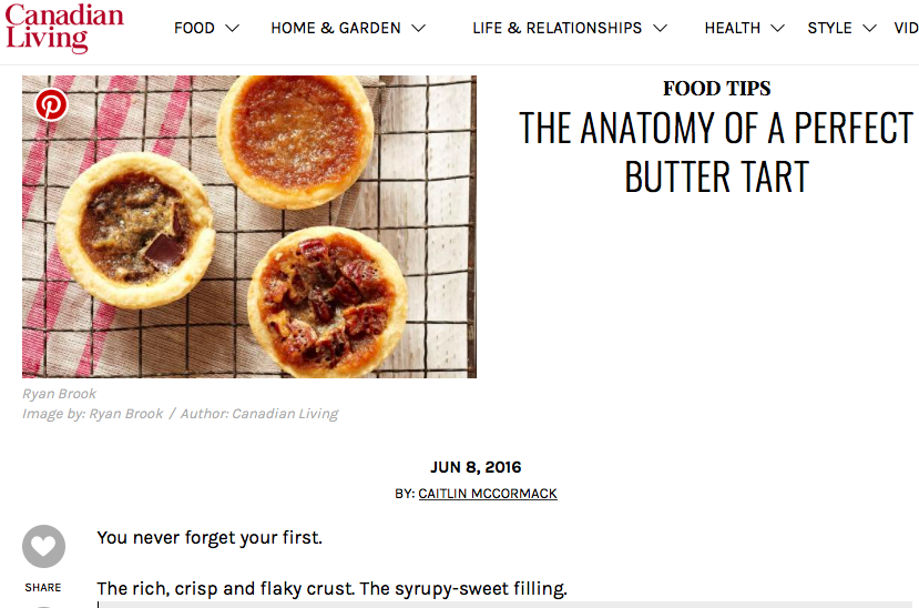 The Anatomy of a Perfect Butter Tart